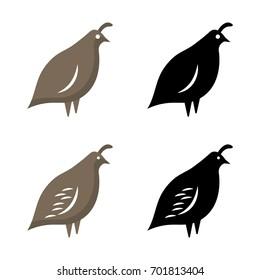 A set of quail icons