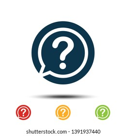 Set Question Mark Icon Vector Template. Colorful Help Desk Icon Logo.