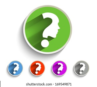 Set of Question Marks Icon Design