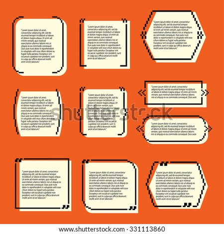 set quote templates business information text stock vector royalty