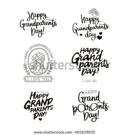 Grandparents Quotes | Set Quotes About Happy Grandparents Day Stock Vector Royalty Free
