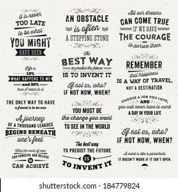 Set Quotes Posters Stock s & Vectors