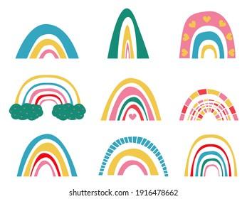 Set of rainbow, vector illustration
