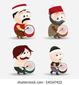set of ramadan drummers
