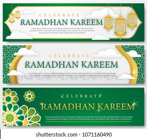 set of ramadhan banner template