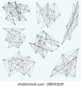A set of random abstract vector geometric shapes