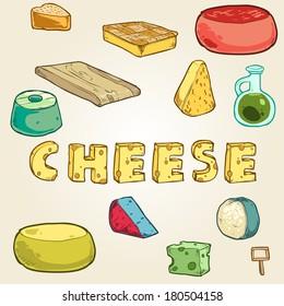 set of random cheese