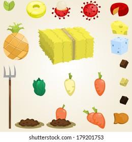 set of random food