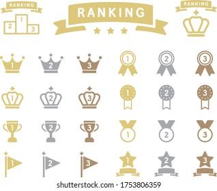 Set of ranking flat icons