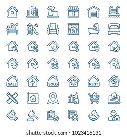 Set of real estate icons. Vector illustration