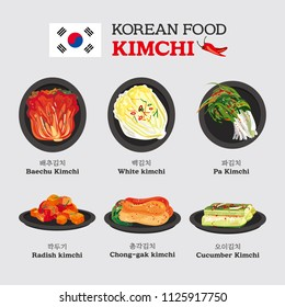 A set of realistic high quality kimchi vector illustrations. EPS10