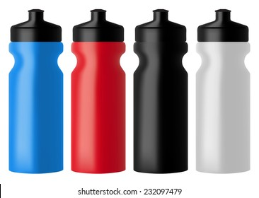 Set realistic sports water bottles