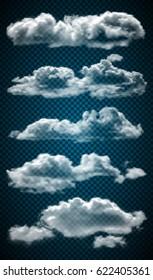 Set realistic transparent clouds.