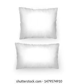 Set of Realistic white pillows, template for your patterns or design, Vector EPS 10 format