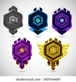 Set receiving the modern game achievement badges