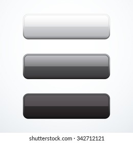 Set of rectangle buttons