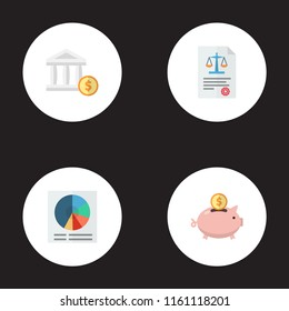 Set of registration icons flat style symbols with account, circle chart, accumulation and other icons for your web mobile app logo design.