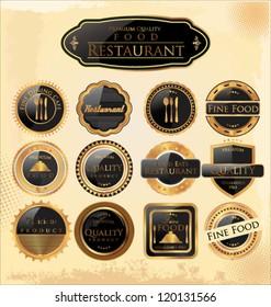 Set of restaurant premium quality Labels