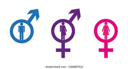 set of restroom icons including gender neutral icon vector illustration EPS10