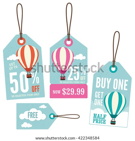 5d7a828d6e8ca Set Retail Price Tags Hot Air Stock Vector (Royalty Free) 422348584 ...