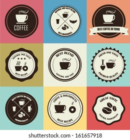 Set of Retro Coffee Badges and Labels