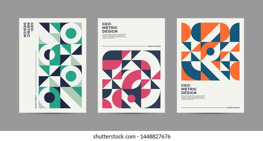 Set of Retro Geometric shape for your design. Applicable for Banners, Cover, Placards, Posters, Flyers etc. Eps10 vector