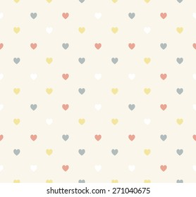 Set of retro love patterns. Seamless vector background.
