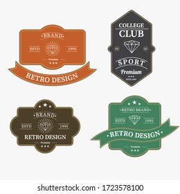 Set of retro vintage badge logo design. Vector design element, with variety styles and element, business sign, logos, identity, labels, badges and object, vector eps 10.