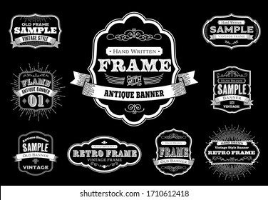 Set of Retro Vintage Badges and Labels in illustration vector, EPS 10.