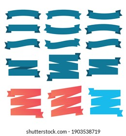 Set of ribbons for anniversary. Banner ribbon vector