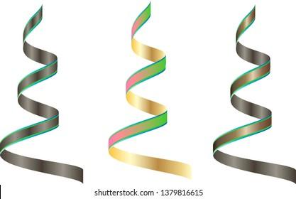 Set of ribbons vector Illustration