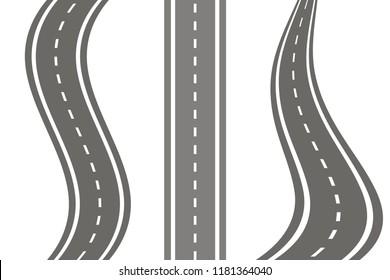 Set road icon vector