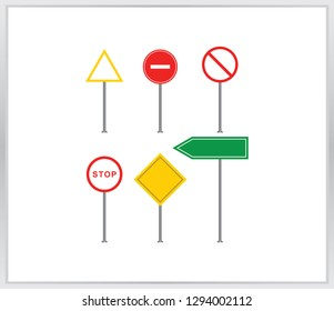 Set of road signs icon