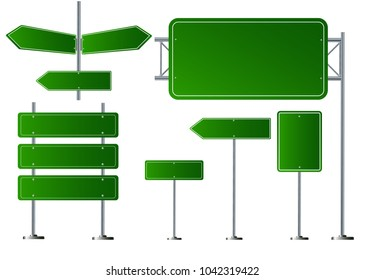 Set of road signs isolated on transparent background. Vector illustration EPS 10