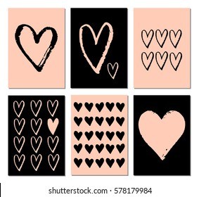 A set of romantic greeting cards.