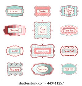 8dbdd88cb9 Set of romantic vintage hand drawn labels in farmhouse style