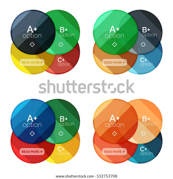 Set Round Option Diagram Template Your Stock Vector (Royalty