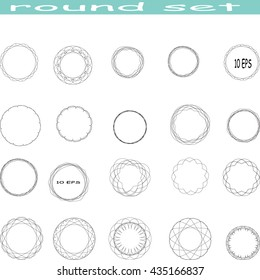 set round style element , stock vector background