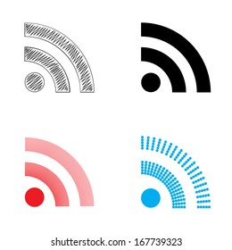 Set of RSS icons.