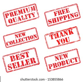 Set rubber stamps. EPS8 Vector illustration