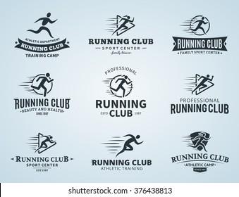 Set of running club logo