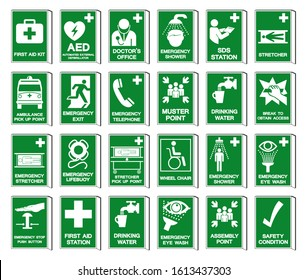 Set Of Safety Condition Collection Symbol Sign, Vector Illustration, Isolated On White Background Label .EPS 10