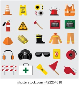 set of safety icon
