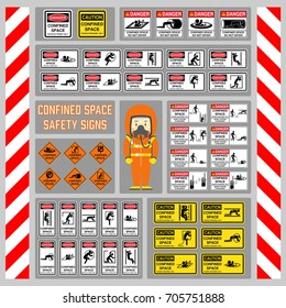 Confined Space Sign Images, Stock Photos & Vectors