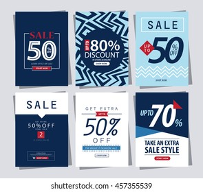 set of Sale Banner poster tag template for shopping.ads web template