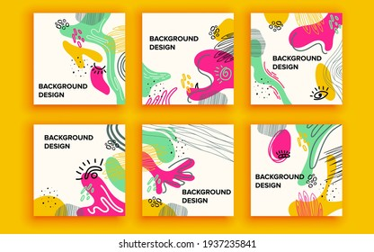 Set of sale banner template design. Vector illustration.