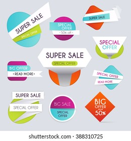 Set of sale banners design, discounts  and special offer. shopping background for business promotion. Vector illustration.
