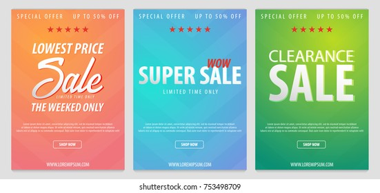big sale banner design amount promo stock vector royalty free