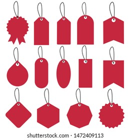 Set of sale tags and labels illustration., template shopping labels Vector . Blank, discount and price tags on paper. Special offer.