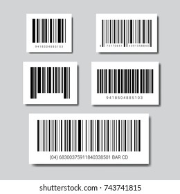 Set Of Sample Bar Codes For Scanning Icon Vector Illustration